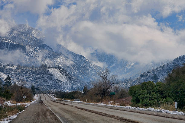 Road to the Snow California State Highway 38 heading east out of San Bernardino towards Big Bear. redlands california stock pictures, royalty-free photos & images