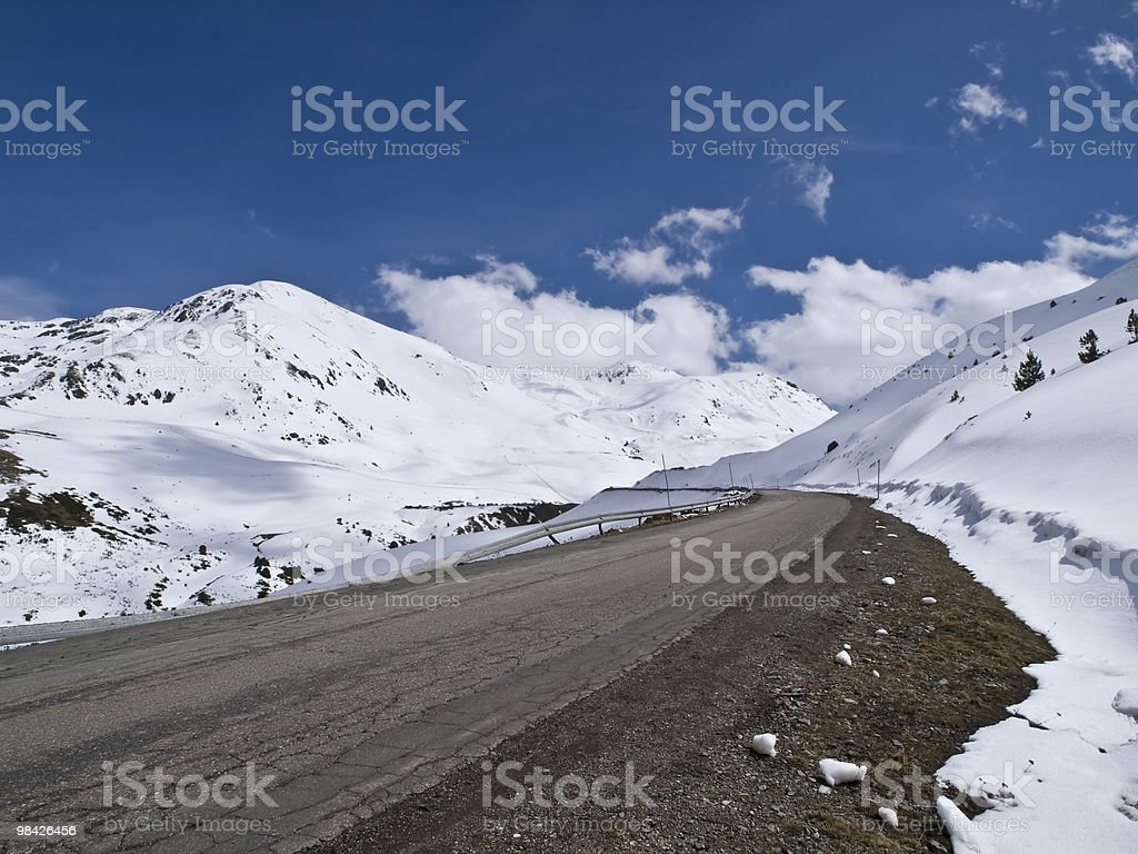 Road to the Snow royalty-free stock photo