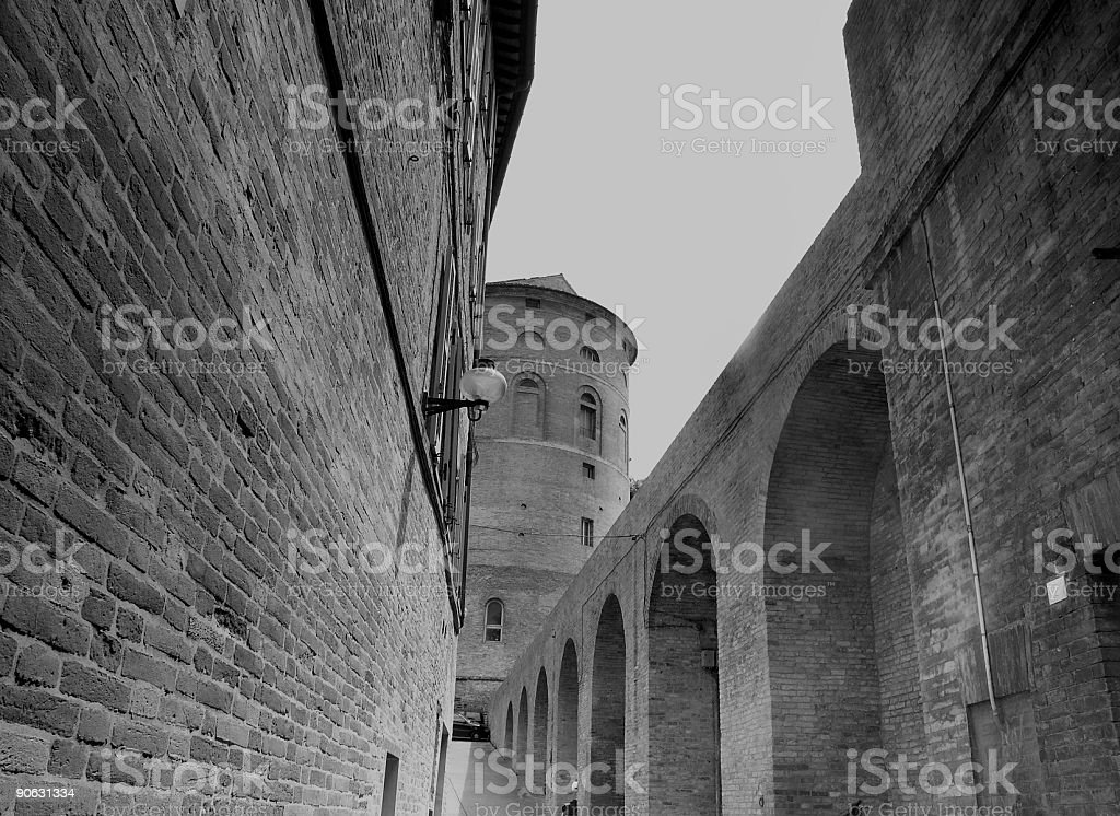 Road to the tower royalty-free stock photo