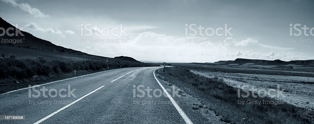 Road to the unknown royalty-free stock photo
