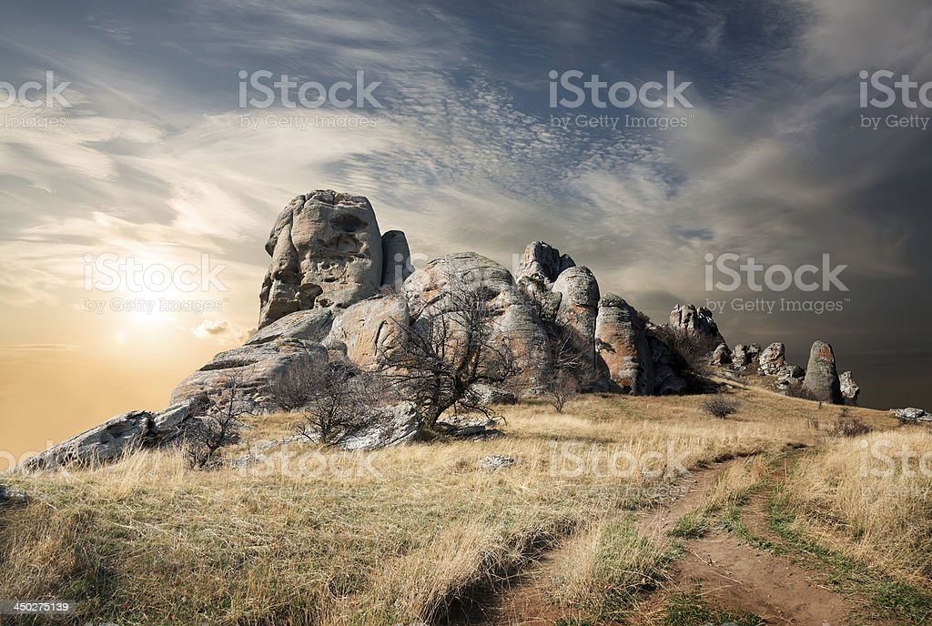 Road to the Valley of Ghosts stock photo