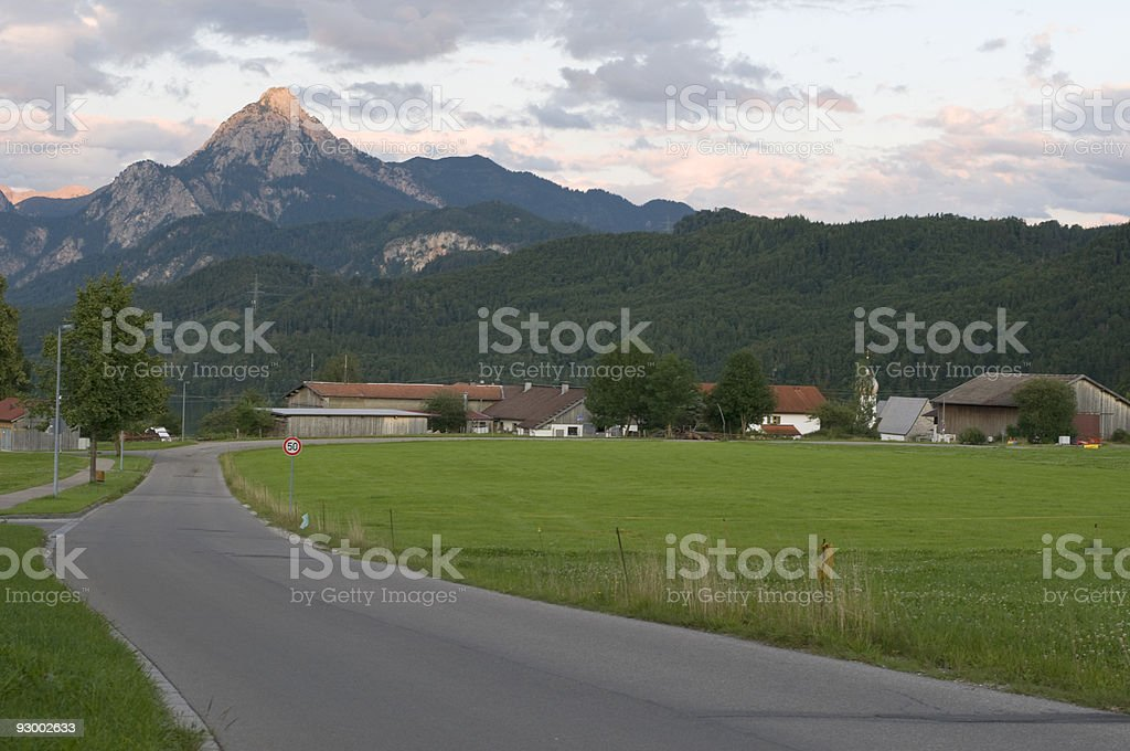road to the valley royalty-free stock photo