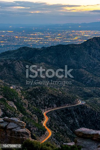 Road to Tucson looking from Mt Lemmon