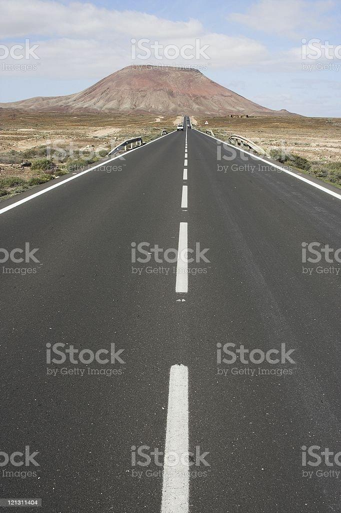 Road to volcano royalty-free stock photo