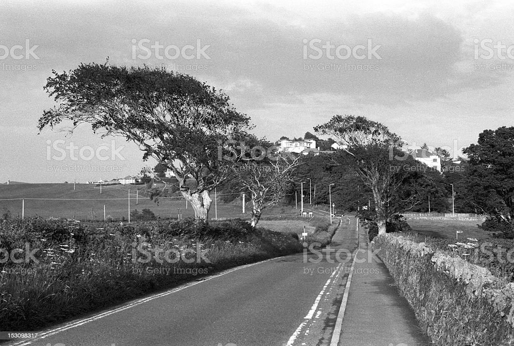 Road to West Kilbride royalty-free stock photo