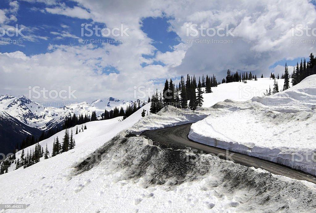 Road to Whistler Peak royalty-free stock photo