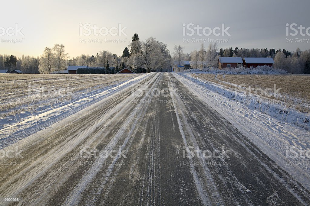 Road to winter royalty-free stock photo