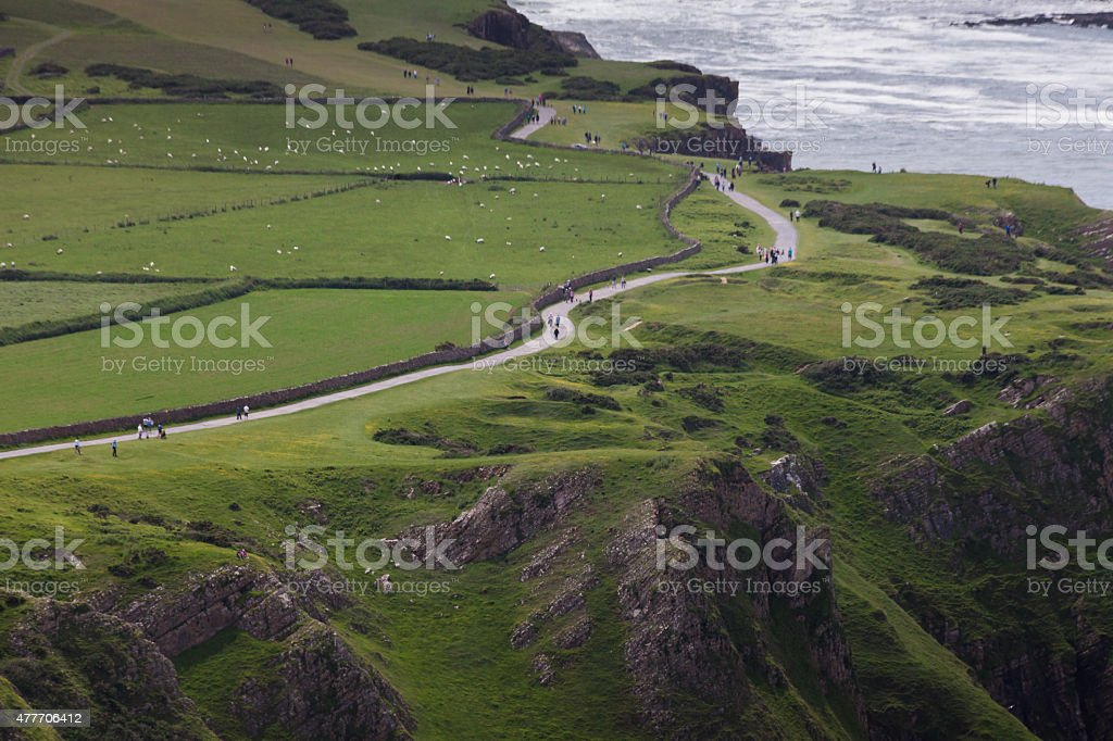 Road to worms head stock photo
