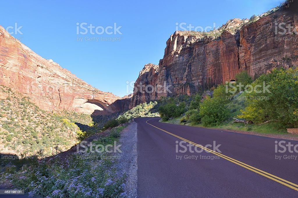 Road To Zion National Park royalty-free stock photo