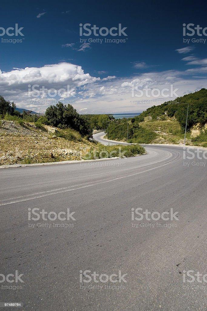 Road toward a sea. royalty-free stock photo