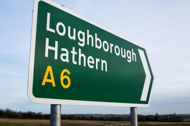 Straßenverkehrszeichen in den East Midlands von England. – Foto