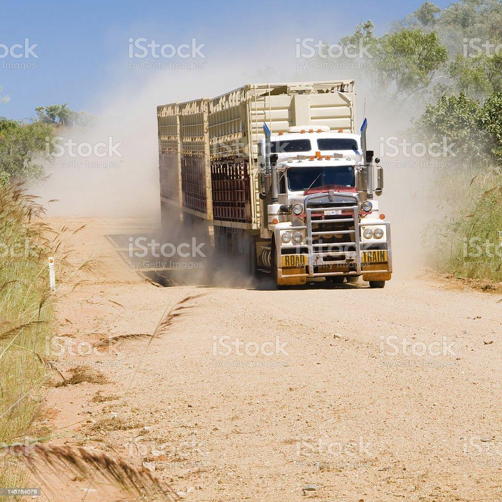 Road Train on Gibb River Track, Western Australia royalty-free stock photo