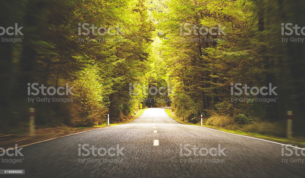 Road Travel Journey Nature Scenics Concept stock photo
