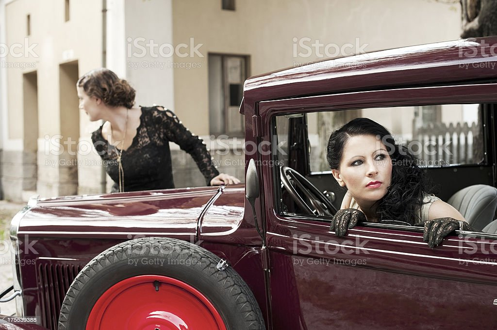 Road Trip - 1930 Style royalty-free stock photo