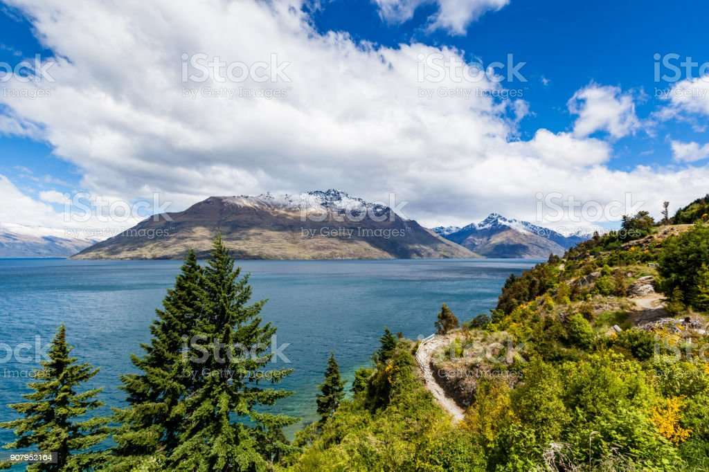 Road Trip beautiful landscape, Queenstown, New Zealand stock photo