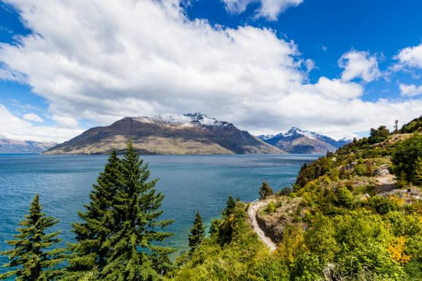 Road Trip beautiful landscape, Queenstown, New Zealand stock photo