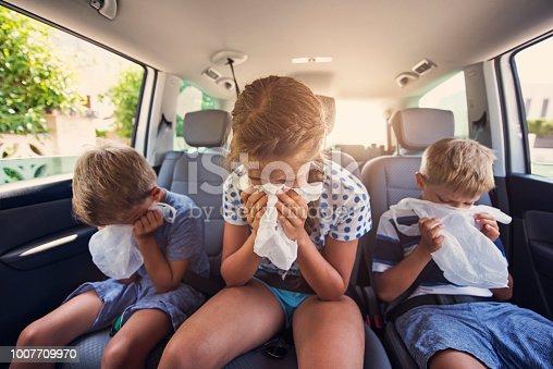 Nightmare trip with three kids. After few quick turn all three kids getting severe car sickness attack. Nikon D810