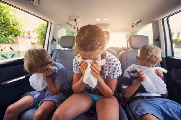 Road-Trip von Auto Krankheit – Foto