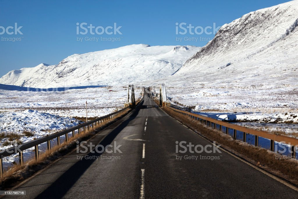 Road Trip, Glencoe, Scottish Highlands, Scotland, UK stock photo