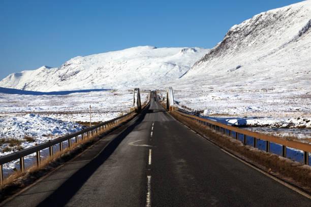Road Trip, Glencoe, Scottish Highlands, Scotland, UK stock photo