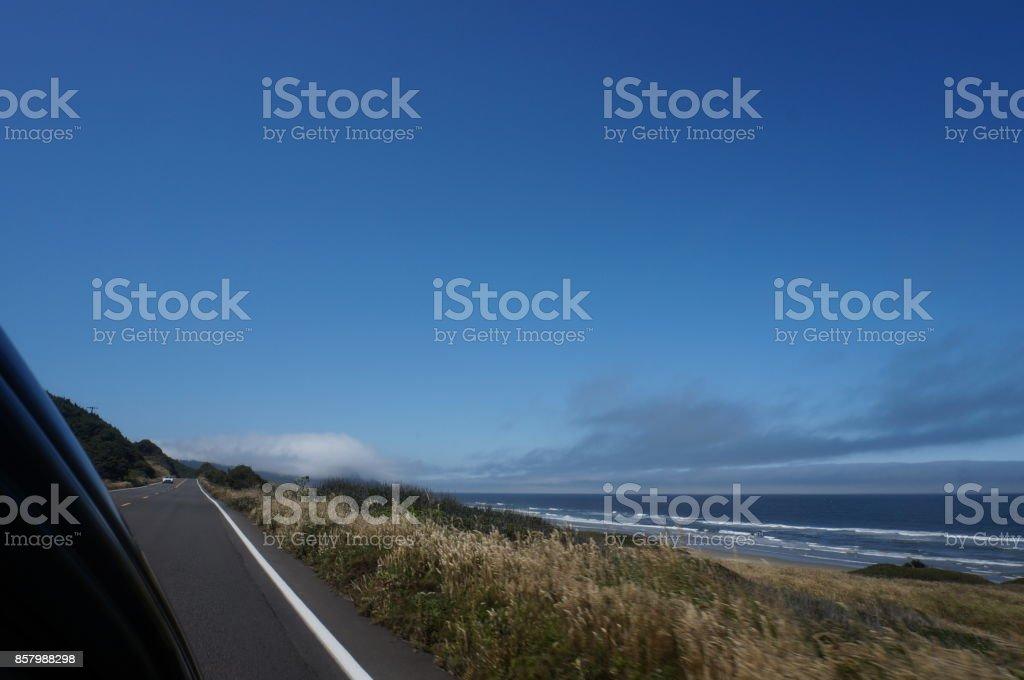 Road Trip, Highway 101 stock photo
