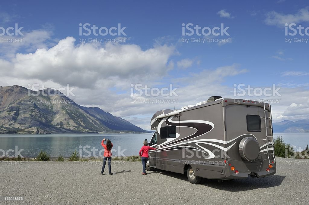 Road trip in Alaska stock photo