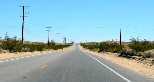 Road trip in Arizona desert stock photo