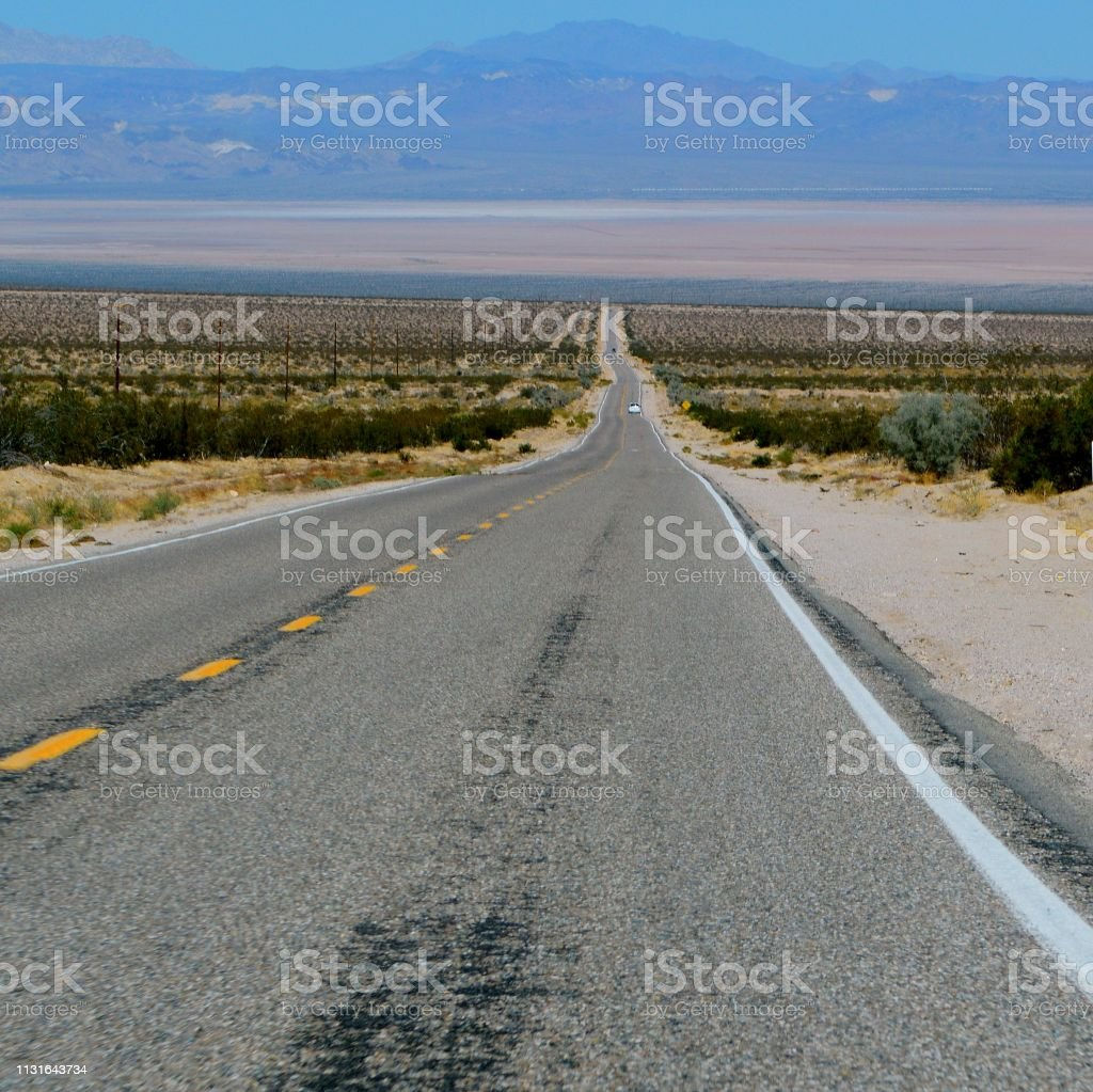 Road Trip In Arizona Desert Stock Photo - Download Image Now