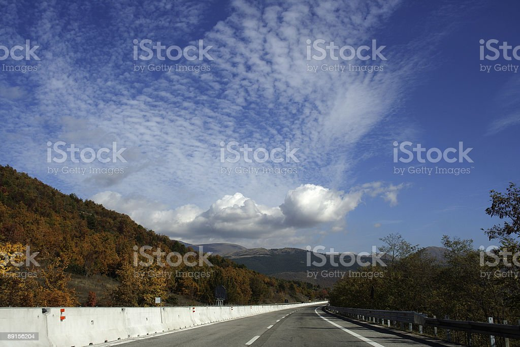Road trip in autumn stock photo