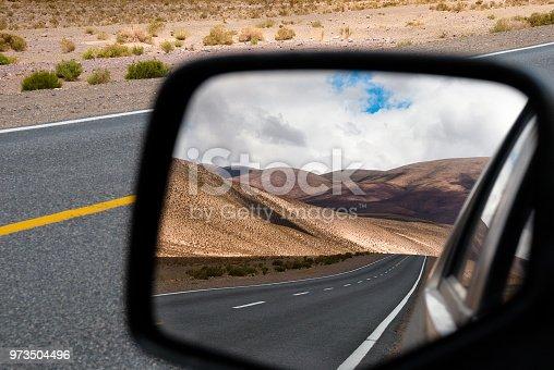 Near Salinas Grandes salt desert in Jujuy, Argentina.