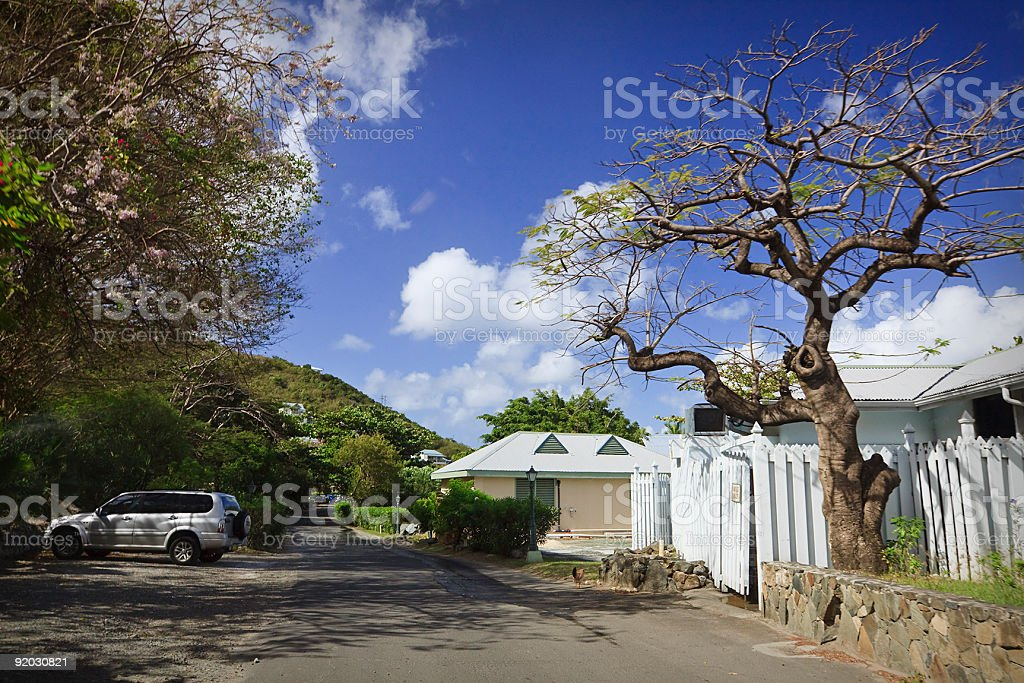 Road Trip in Tortola BVI Caribbean stock photo