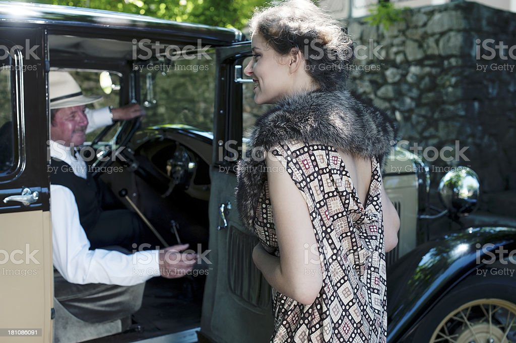 Road trip in Vintage Style - 1934 royalty-free stock photo