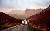 istock Road trip - Motor home 507866562
