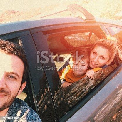 528474010istockphoto Road trip selfie of my family 507881162