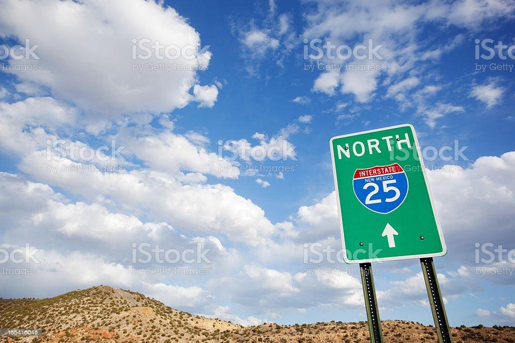 road trip sign desert landscape sky royalty-free stock photo