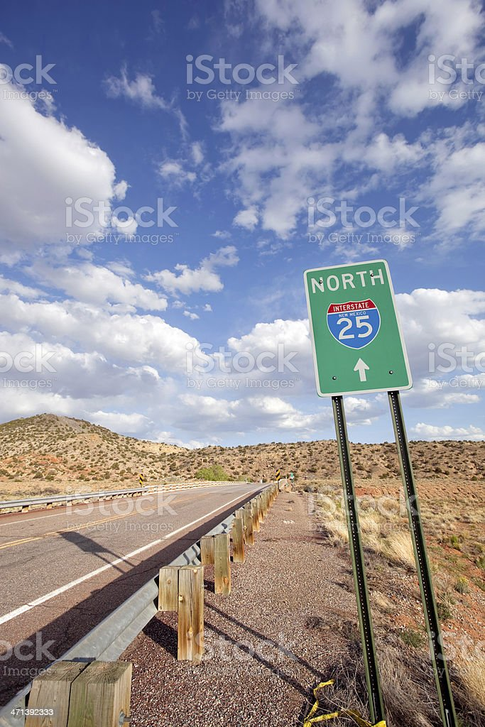 road trip sign desert landscape sky royalty-free stock photo