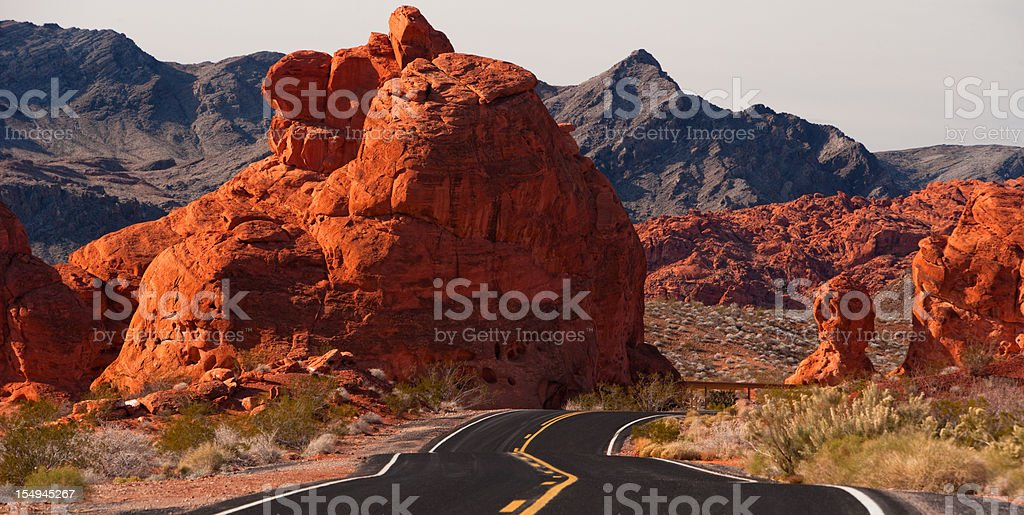 Road Trip through Valley of Fire State Park, Nevada. royalty-free stock photo