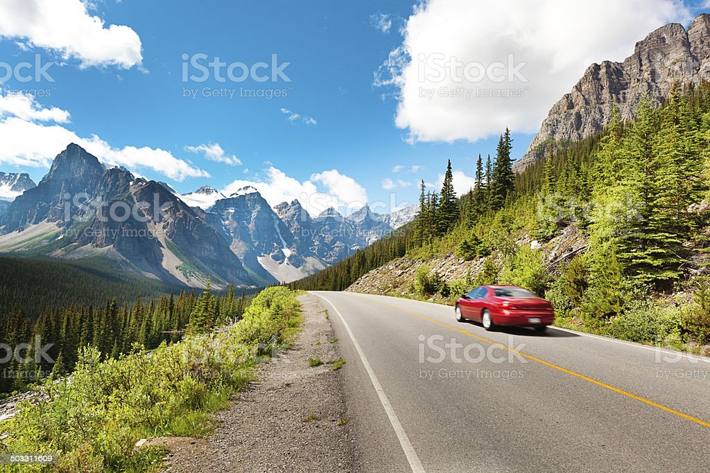 Road Trip to Banff National Park in the Canadian Rockies stock photo