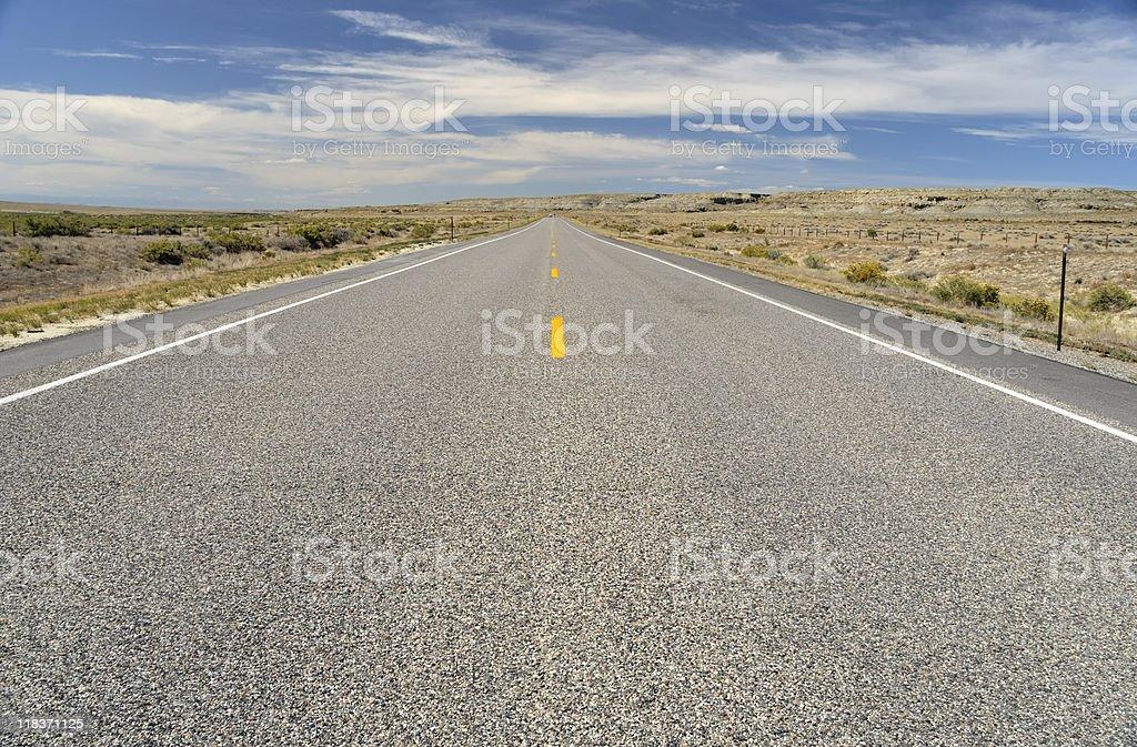 Road Trip Wyoming royalty-free stock photo