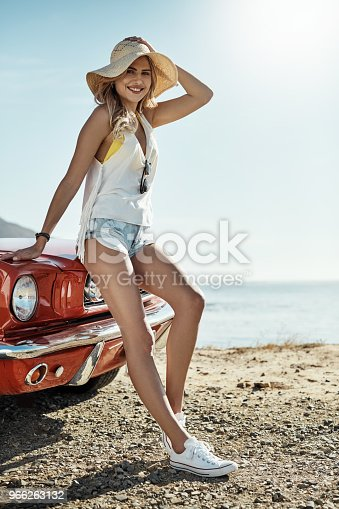 966263130 istock photo Road tripping is what she loves to do 966263132