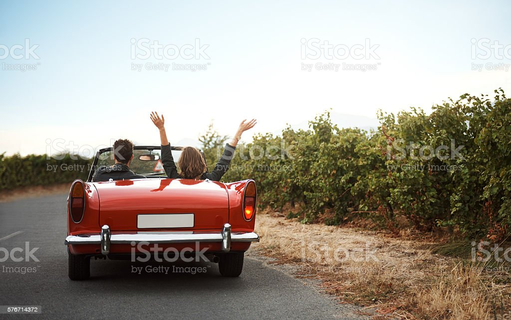 Road trips make great stories stock photo