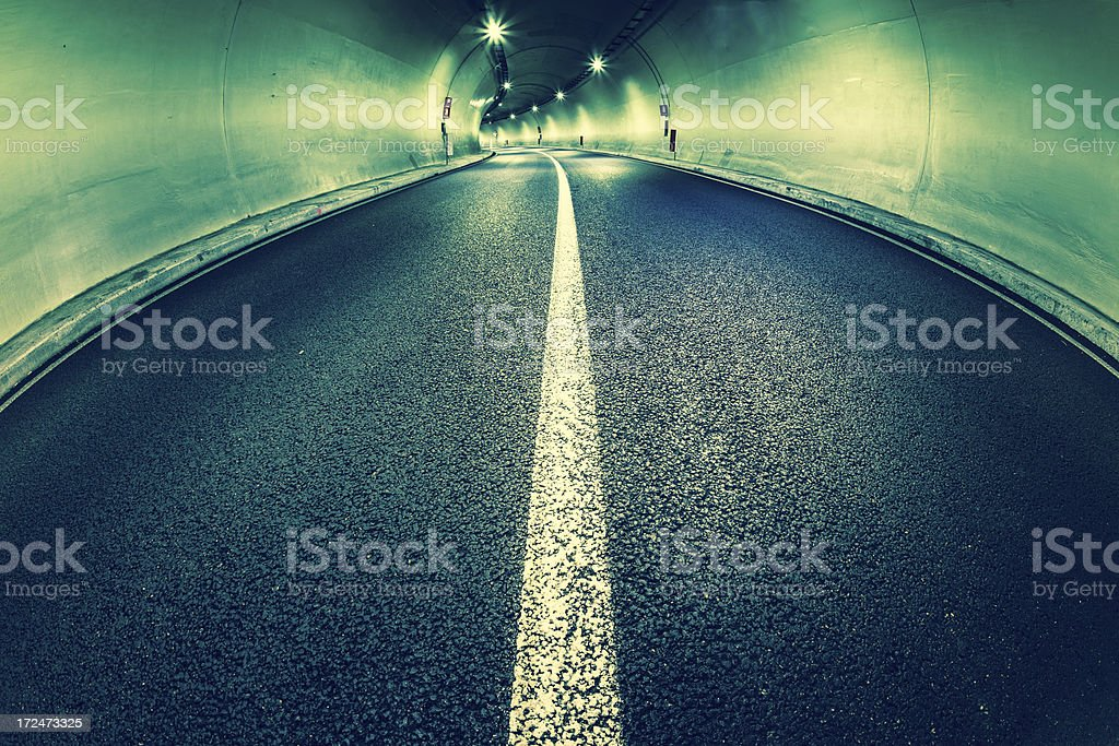 Road Tunnel at Night royalty-free stock photo
