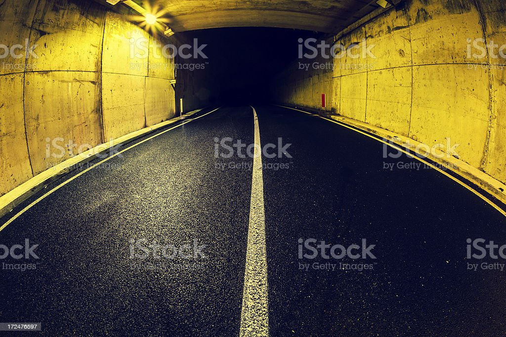 Road Tunnel in the Dark royalty-free stock photo