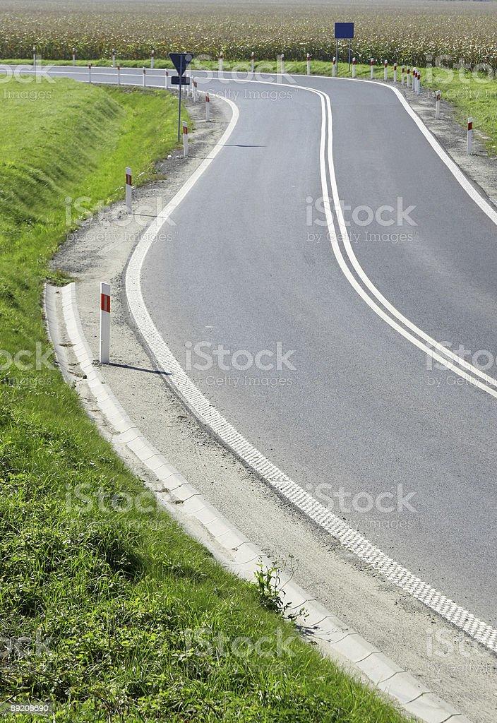 Road turn royalty-free stock photo