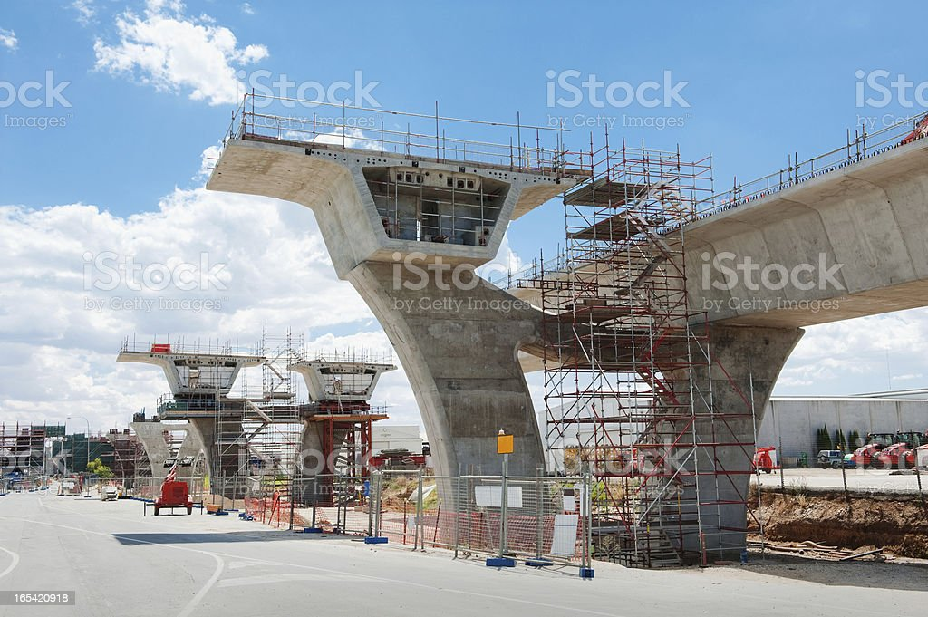 road under reconstruction royalty-free stock photo