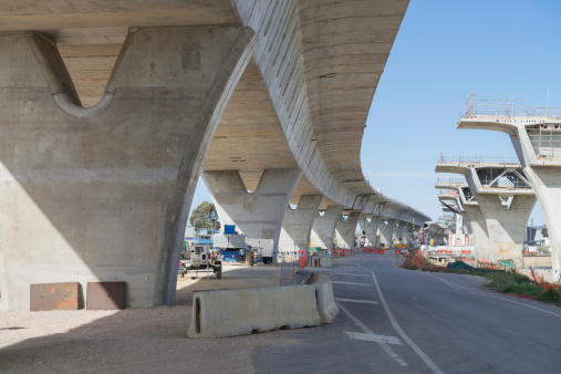 fragment  view  of the road under reconstruction