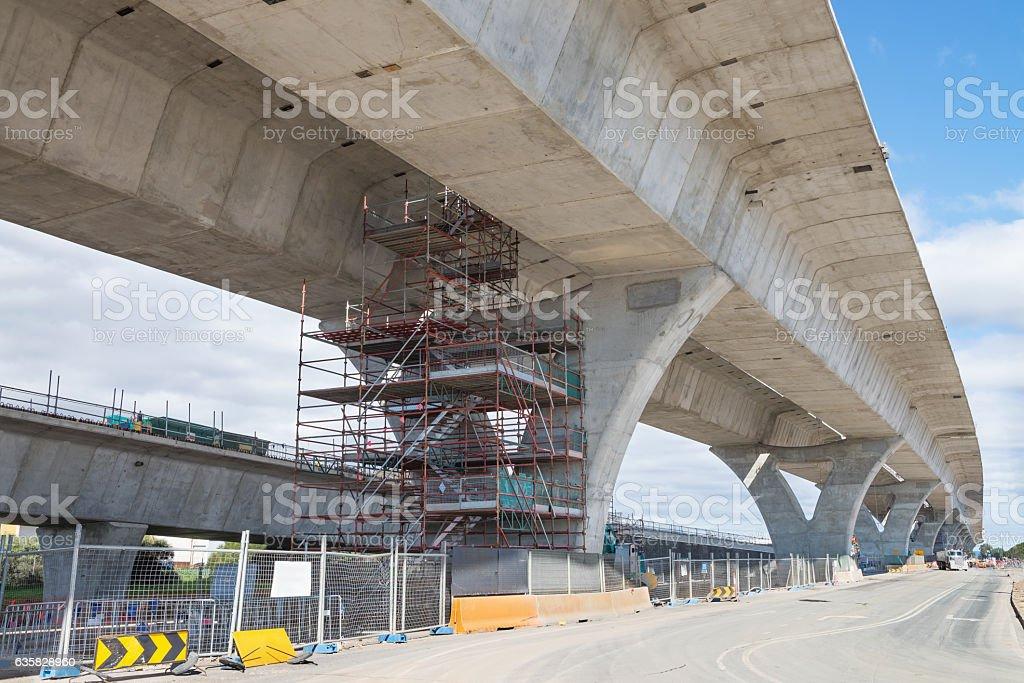 road under reconstruction stock photo