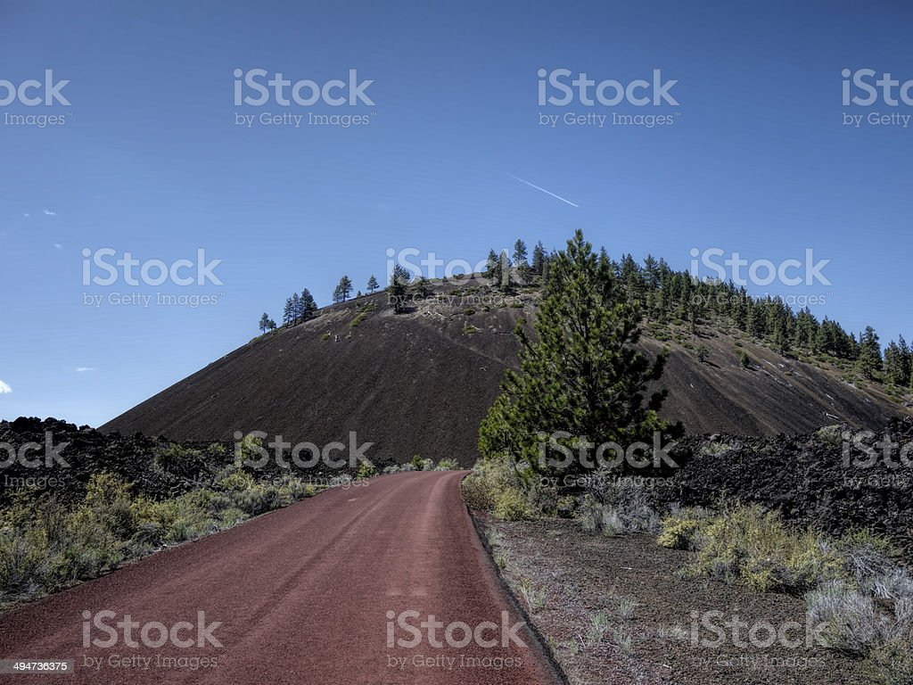 road up lava butte stock photo