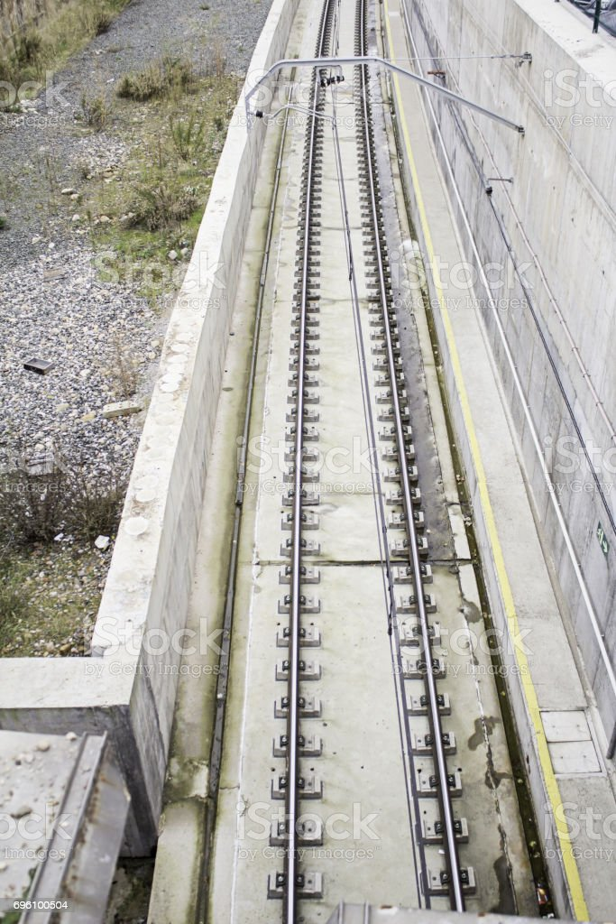 Road urban train stock photo