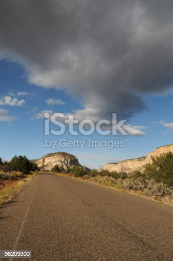 Road W Dark Cloud Overhead Stock Photo & More Pictures of Cliff